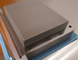 Microfire™ compact heat exchanger block 3d printed titanium for Rolls-Royce Model 250 gas turbine