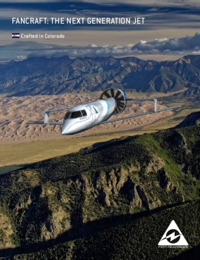 Skyfan mid sized business jet brochure cover